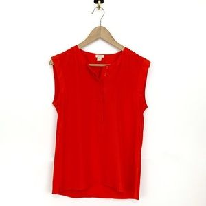 J. CREW Women's Drapey Sleeveless Career Blouse 6P